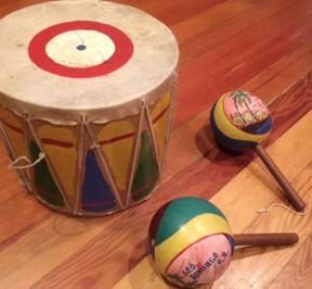 Box-drum-maracas