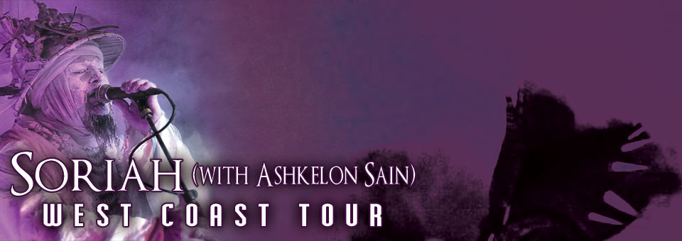 Soriah West Coast Tour